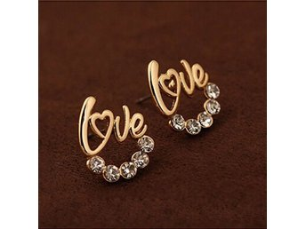 New Fashion Womens Jewelry Elegant Crystal Rhinestone Gild Ear Stud Earrings