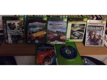 6 st x-box - spel. Ghost recon, call of duty,  need for speed, scar