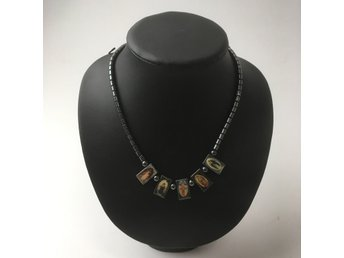 Hematite Necklace, Halsband, Svart