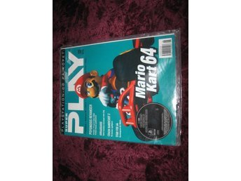 SUPER PLAY NY MED CD JUNI 1997 MARIO KART 64 INPLASTAD