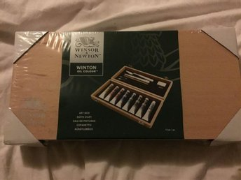 Helt nytt set WINSOR & NEWTON Art Box Oil Colours
