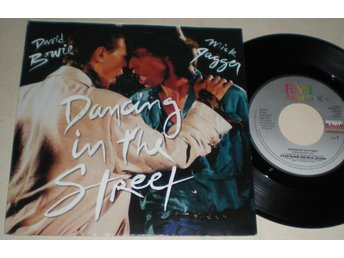 David Bowie & Mick Jagger 45/PS Dancing in the street 1985 VG++