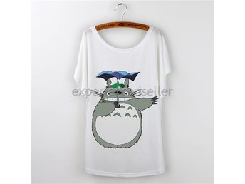 My Neighbor Totoro T-Shirt Stl S Small - Tjej Dam Top Tröja Min Granne Totoro