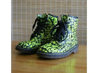 Kängor - Dr. Martens - gula - Air wair -  Faces - Strl 38 UK 5 - ovanliga rare