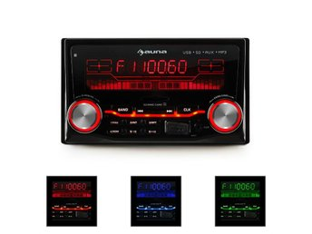 auna MD-200 2G bilradio USB SD MP3 radio-inspelning 3 färger 4x75W line-out