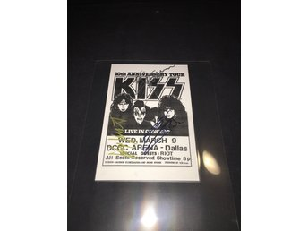 Kiss - Creatures of the night Tour flyer signerad x 3