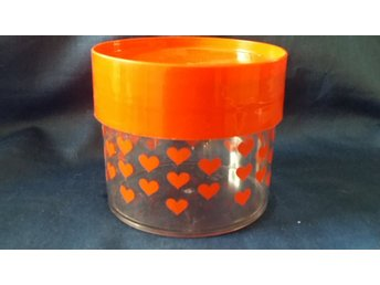 burk plastburk orange lock 60/70-tal  RETRO
