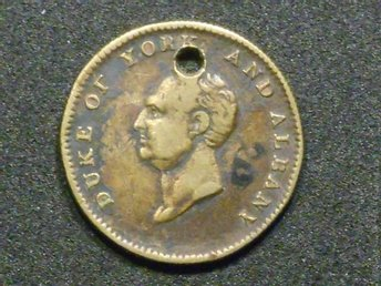 ÄLDRE MEDALJ (DUKE  OF YORK 1827  (diameter 25 mm...