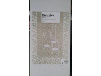 Javascript är inaktiverat. - Lund - Fint blomstativ i pulverlackerat stål 65 cm. hög. Helt ny i kartong. - Lund