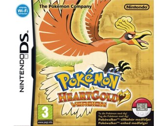 Pokemon HeartGold Version including Pokewalker (Fint skick) - Nintendo DS