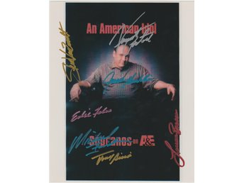 SOPRANOS TELEVISION CAST SIGNED BY 7 PRE-PRINT AUTOGRAF FOTO