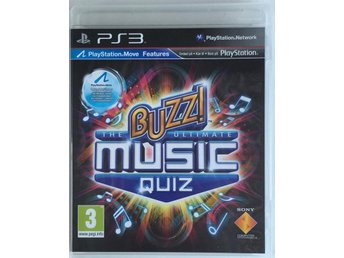 Buzz!: The Ultimate Music Quiz - Playstation 3/PS3 - Svensksåld - SOM NYTT