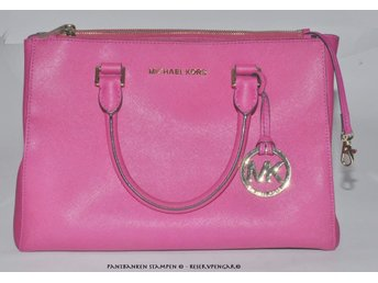1 Michael Kors Sutton väska Selma S Satchel Medium Pink Leather, V38258:1
