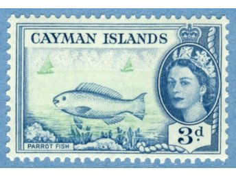 CAYMAN ISLANDS 1955 M142** fisk enda i serien (314)