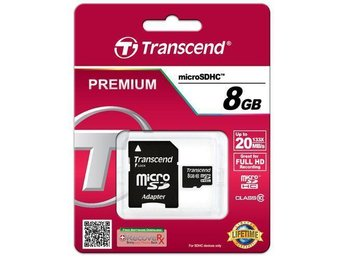 Transcend micro SDHC 8GB Class 10   FULL HD (PREMIUM)