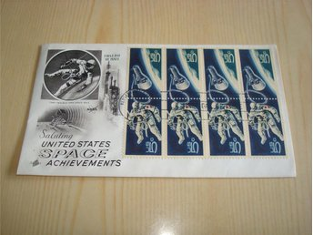 NASA United States Space Achievements 1967 USA förstadagsbrev 8 frimärken FDC