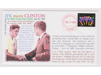 50th Anniversary of JFK meets CLINTON FDC