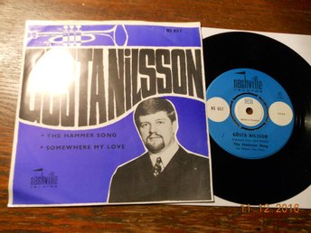 "GÖSTA NILSSON - The Hammer Song/Somewhere my love, 7"" Nashville 1967 Telstars"
