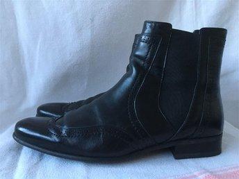 Cowboy Stil ROOTS Skinn läder svarta boots skor nyskick Stl 42 - Partille - Cowboy Stil ROOTS Skinn läder svarta boots skor nyskick Stl 42 - Partille