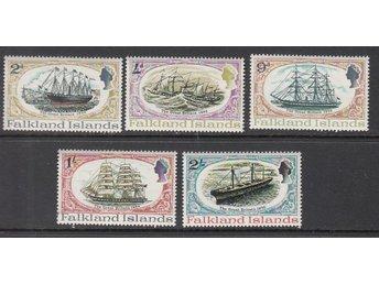 Falkland Island 1970. Mi nr: 187-91 ** Segelfartyg - Njurunda - Falkland Island 1970. Mi nr: 187-91 ** Segelfartyg - Njurunda