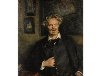 AUGUST STRINDBERG 1905 av Richard Bergh OLJETRYCK