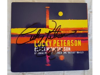 Signerad / autograf CD blues soul r&b Lucky Peterson : Black Midnight Sun