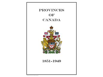 Provinces of  Canada 1851-1949 PDF(DIGITAL)  ALBUM INGA FRIMÄRKEN!!