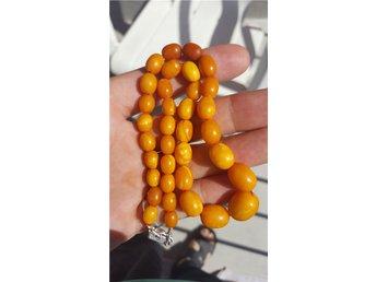 Natural butterscotch baltic amber beads. 15,52 gram - Bromma - Natural butterscotch baltic amber beads. 15,52 gram - Bromma