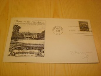 The White House Home of the Presidents 1938 USA förstadagsbrev FDC