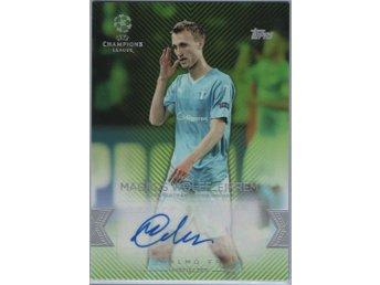 15-16 Topps UEFA Champions League Autographs Green Magnus Wolff Eikrem /150 - örebro - 15-16 Topps UEFA Champions League Autographs Green Magnus Wolff Eikrem /150 - örebro