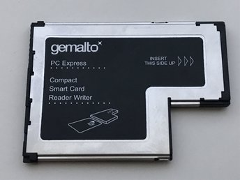 Smart Card Reader Gemalto Gemplus GemPC PC Express ExpressCard Reader Writer