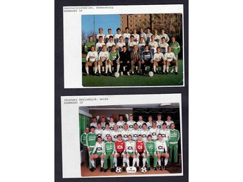 Hammarby IF, 2 lagfoto med bla Mikael Andersson
