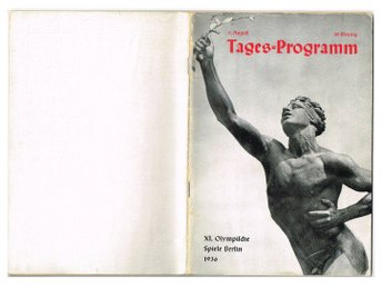 XI. OLYMPISCHE SPIELE BERLIN 1936 9. August Tages-Programme