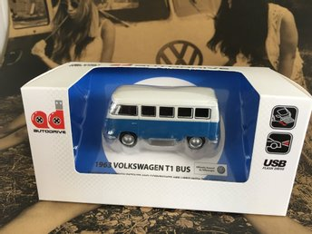 NY! Retro 1963 Volkswagen T1 Bus 8GB USB-Minne BLÅ