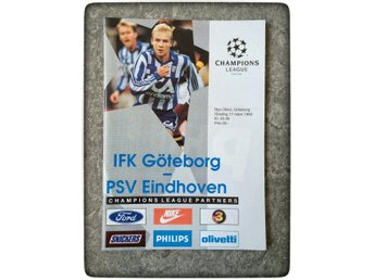 IFK Göteborg - PSV Eindhoven 1993 Champions League UEFA match program Romario