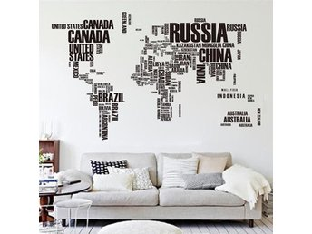 DIY Large World Map Wall Decal Wall Stickers Decal