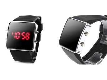 Digital Led klocka/klockor Silicon  RETRO VINTAGE watch Best gift 9017