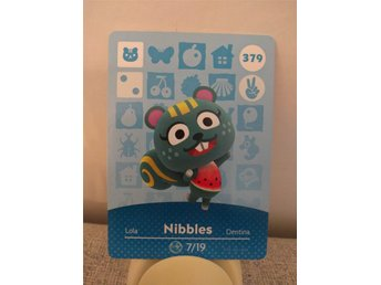 Animal Crossing Amiibo Welcome Amiibo card nr 379 Nibbles