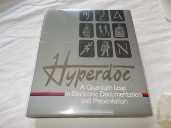 "Hyperdoc Software version 1.12  DOS 5.25"" floppy disks retro internet USA 1989"