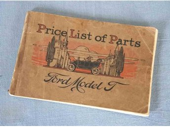 FORD  Model T  1911  Price / Parts list ,,,, RARITET !!