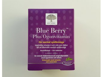 Blue Berry Plus Ögonvitamin – 120 st tabletter
