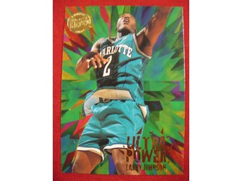 LARRY JOHNSON - FLEER ULTRA 1995-96 - ULTRA POWER GOLD MEDALLION - BASKET