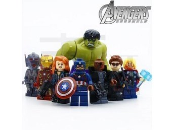 Marvel Avengers Superheros Minifigurer 8 st med Stor HULK - Hudiksvall - Marvel Avengers Superheros Minifigurer 8 st med Stor HULK - Hudiksvall