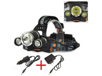 6000Lm 3x XML T6 LED Headlamp Headlight Rechargeable Head Torch Light Lamp