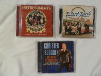 3 CD MED BLACK JACK, CHRISTER SJÖGREN, THE REFRESHMENTS !