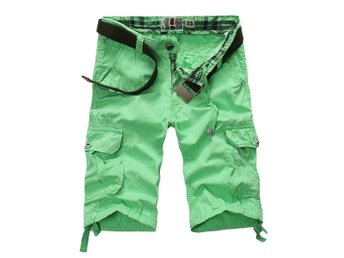 men's strl 34 cargo shorts multi-pocket apple green shorts - New York - men's strl 34 cargo shorts multi-pocket apple green shorts - New York