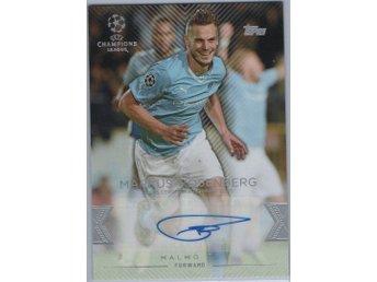 15-16 Topps UEFA Champions League Autographs Markus Rosenberg - örebro - 15-16 Topps UEFA Champions League Autographs Markus Rosenberg - örebro
