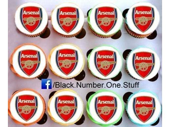 Arsenal tårtoblater - Cupcake / Muffin toppers