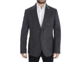 Dolce & Gabbana - Gray silk two button blazer