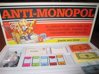 ANTI MONOPOL ALGA KOMPLETT - Helsingborg - Alga Anti Monopol Komplett Fint skick - Helsingborg